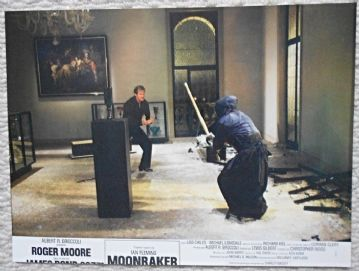 Moonraker, Original French still, Roger Moore, James Bond fights a Ninja! (JB27)